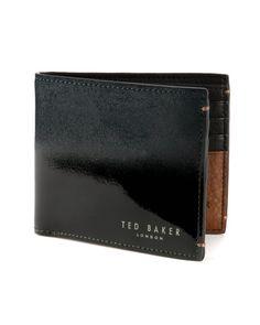 Patent gradient bi-fold wallet - Green | Wallets | Ted Baker UK