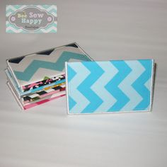 Chevron slim wallet womens business card holder mini teen business card holder chevron fabric gift by beesewhappyboutique reheart Image collections