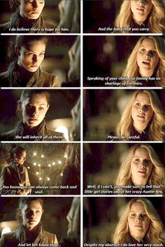 The Originals - Phoebe Tonkin as Hayley and Claire Holt as Rebekah