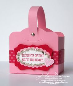 Julie's Stamping Spot -- Stampin' Up! Project Ideas Posted Daily: Two Tags Valentine Box Tutorial