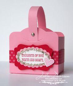 Two Tags Valentine Box Tutorial #stampinup #valentine #treatbox
