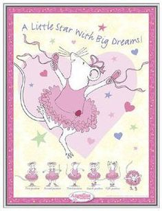 Angelina Ballerina Framed Print - Quality Aluminum Frame 18 x 24 by 123Posters. $49.50. Measures 18 by 24 inches. Arrives ready to hang. Shatterproof Pebble Tec glazing - safe design for childrens rooms. Angelina Ballerina A Little Star with Big Dreams Framed Print. Silver aluminum frame components with brushed sides by Nielsen Bainbridge. Print is permanently mounted and UV-resistant. Angelina Ballerina A Little Star with Big Dreams - gorgeous art framed at an unbeatabl...