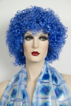 Dark Blue Fun Color Medium Curly Costume Fun Color Wigs (ebay link) Medium Curly, Wigs For Sale, Dark Blue, Costumes, Link, Ebay, Color, Deep Blue, Dress Up Clothes