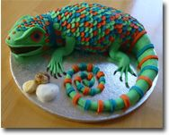 Lizard Cake - this is amazing!
