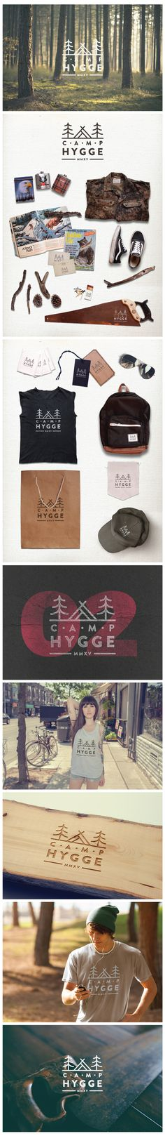 Logo design and branding concept for Camp Hygge by CogitoDesigns.