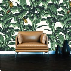 "It looks and feels like traditional wallpaper, but it's actually made of our self-adhesive wall sticker fabric. This means it is do-it-yourself (no glue, no tradesperson), and removable! This ""Havana"" design was inspired by the classic Hollywood Hotel wallpaper and brings the very in-vogue tropical style to a living space or office. CONTENTS: 1 sheet of ""Havana"" wallpaper, 65cm wide by your wall height. The repeat on this wallpaper will be every 4 products, or every 2.6m. AMOUNT NEEDED: ..."