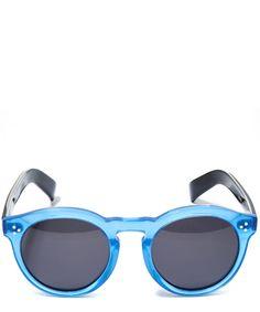 Illesteva Light Blue Leonard II Acetate Sunglasses