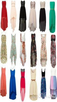 Short to long dresses casual image