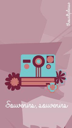 Hipster Flowers Camera iPhone Lock Wallpaper @PanPins