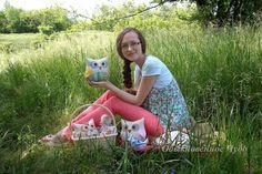 """Милейшая Совушка, которую вы можете сшить по МК Журавлевой Надин (Мастерская """"Обыкновенное Чудо""""  https://www.etsy.com/shop/PencilStory"""