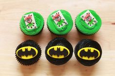 Batman Cupcakes from Nerdy Nummies