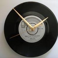 "Barry blue- dancin on a Saturday night    7"" vinyl record clock"