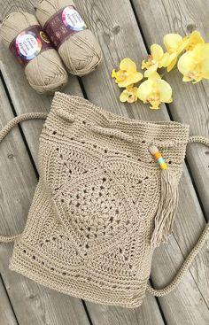 Crochet Patron, Diy Crochet And Knitting, Crochet Handbags, Crochet Purses, Small Crochet Gifts, Knitting Patterns, Crochet Patterns, Crochet Backpack, Crochet Decoration