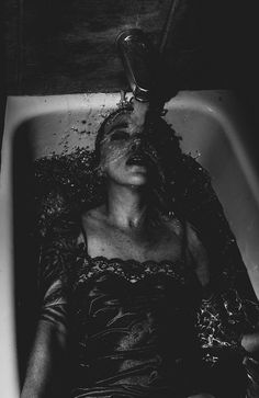 Concept works, looking at less contrast **** Photographer: Jeff Soderstrom - Emporium Photography, Model: Jessica Lynn Creepy Photography, Horror Photography, Emotional Photography, Water Photography, Creative Photography, Portrait Photography, Photography Magazine, Editorial Photography, Mini Mundo