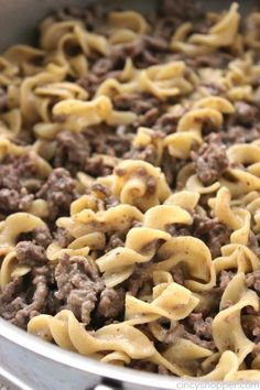 Instapot Recipes Homemade Hamburger Helper Beef Noodle - With a few simple ingredients and a few minutes time, you can avoid the boxed stuff. Hamburger Casserole, Hamburger Meat Recipes, Beef Recipes, Cooking Recipes, Beef Noodle Casserole, Hamburger Stew, Recipies, Beef Meals, Barbecue Recipes