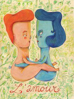"""L´ amour"" by Amaia Arrazola Illustration  My Friend @Amaia Arrazola"