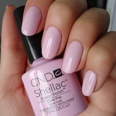 """This is one of my FAVORITE Gel nail colors! CND Shellac in """"Cake Pop"""""""