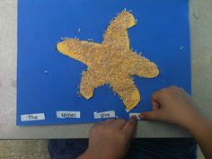"Starfish with ""spiny"" rice craft...free templates"