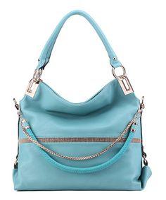Another great find on #zulily! Light Blue Twister Shoulder Bag #zulilyfinds