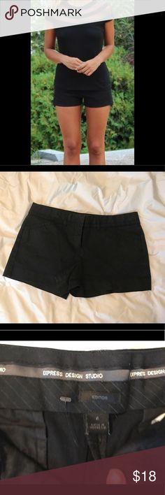 Black Express Editor Shorts Classic black shorts from Express Express Shorts