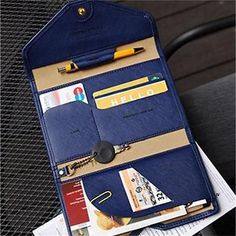 Travel-Passport-Bag-Holder-Wallet-Card-PU-Leather-Ticket-Protector-Organizer-ONE