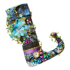 Christmas stocking  woodland style with fairy by prettystockings, $100.00