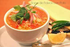 Mexico in my Kitchen: Sopa de Fideos con Pollo Receta / Mexican Vermicelli Soup with Chicken and Vegetables|Authentic Mexican Food Recipes Traditional Blog