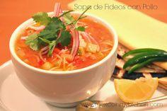 Mexican Vermicelli Soup Sopa de fideos con pollo