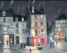 Michel Delacroix L'Hotel des 2 lion Original Painting