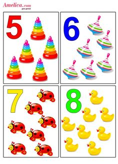 Numbers Preschool, Math Numbers, Preschool Math, Toddler Learning Activities, Preschool Activities, Kids Learning, Flashcards For Kids, Worksheets For Kids, Montessori
