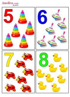 Развивающие цифры в картинках для детей Toddler Learning Activities, Learning Time, Preschool Activities, Kids Learning, Flashcards For Kids, Worksheets For Kids, Numbers Preschool, Preschool Math, Montessori