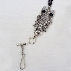 Rie Designs - Pewter Owl Lanyard Necklace