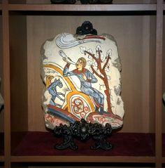 Anunciacion - Panteon Real Real Colegiata de San Isidoro (Leon) Pintura sobre mortero de Cal y Arena Artefaber