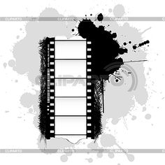 Grunge background with film tape - Vector Graphics