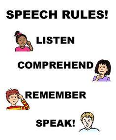 speech rules Speech Pathology, Speech Language Pathology, Speech And Language, Speech Therapy, Speech Rules, Hearing Problems, My Passion, Positivity, Teaching