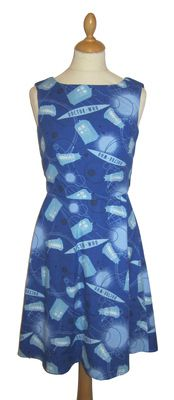 DR WHO TARDIS PRINT DRESS