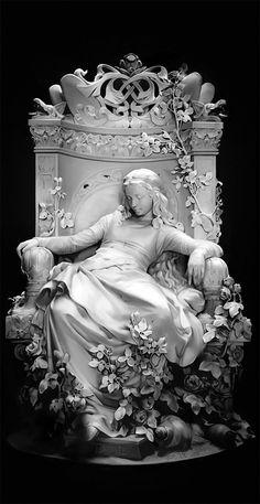 greek statue sleeping beauty Deng Lei on ArtStation at Foto Fantasy, Fantasy Art, Bel Art, Renaissance Kunst, Cemetery Art, Cemetery Statues, Greek Art, Arte Pop, Classical Art