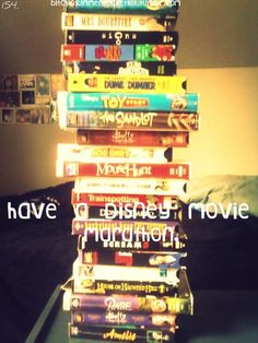 This would be perfect for a rainy day! Disney movies are the best and it's just a great idea when you have nothing to do!