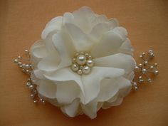 Ivory hair clip/comb Flower hair clip/comb  Bridal by InColours, $15.00