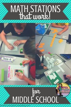 Using Math Stations in Middle School can be daunting but when you have tried and tested materials you know that they can and will work in your classroom.
