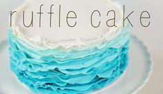 Ombre Fondant Ruffle Tutorial - Cake Style