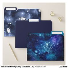 Beautiful starry galaxy and Moon phases File Folder Galaxy Pattern, Book Wall, Kawaii Accessories, Bff Gifts, Bright Purple, Purple Aesthetic, Aesthetic Backgrounds, Moon Phases, Stargazing