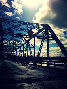 Bridge over the Goose River. Happy Valley-Goose Bay, Labrador