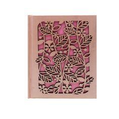 Laser Cut Leaf Notebook - Pink