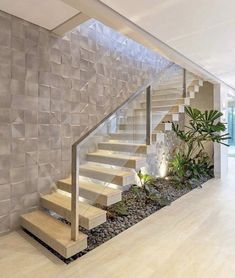 Home Stairs Design, Stair Railing Design, Interior Stairs, Home Interior Design, Staircase Design Modern, House Front Design, Modern House Design, House Staircase, Entryway Stairs