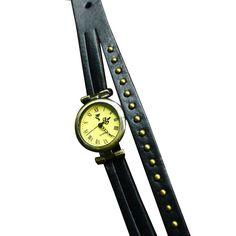 Grayson Antique Style Wrap Around Leather Watch