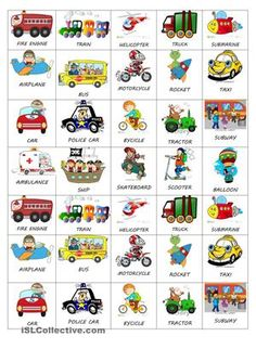 Here you have some cute and tiny stickers to share with your little students.  You can imitate the mean of transport and do the vehicle noise. The student who guess it gets the sticker.   - ESL worksheets