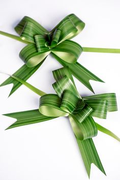Discover thousands of images about Variegated Aspidistra Leaf Pull Bows bows) Flax Flowers, Diy Flowers, Flower Decorations, Deco Floral, Arte Floral, Church Flower Arrangements, Floral Arrangements, Leaf Design, Floral Design