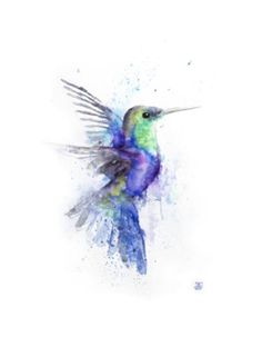 "Saatchi Art Artist Boba J; Painting, ""Hummingbird"" #art"