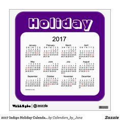 2017 Indigo Holiday Calendar by Janz Wall Decal